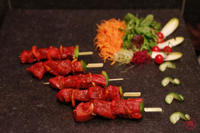 gemarineerd rundsbrochette (4 st. vlees) - Meattime