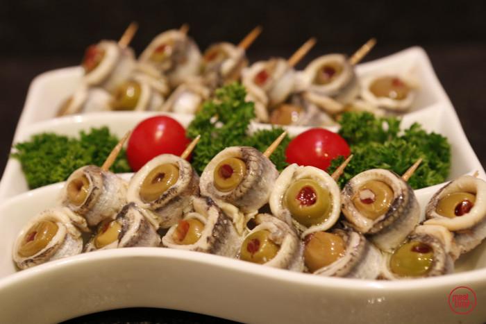 Ansjovisspiesjes met olijven - Meattime