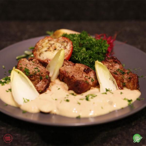 Varkenshaasje in romige champignonsaus  - Meattime