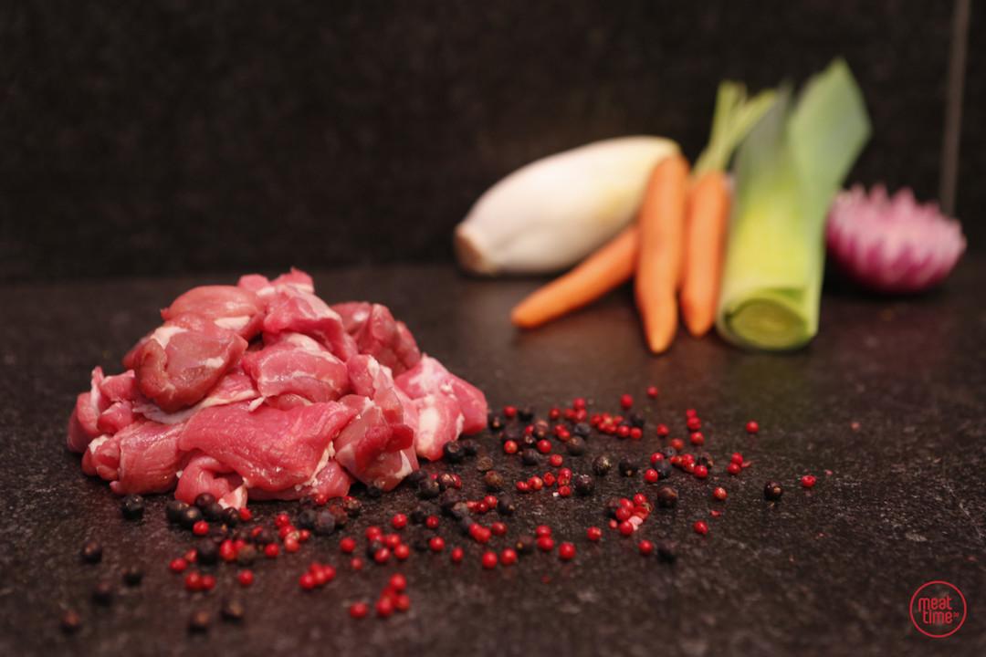 fondueblokjes lamsvlees 250 gr - Meattime
