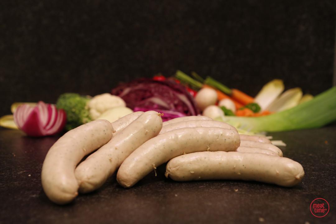 witte worst fondue 12 stuks - Meattime