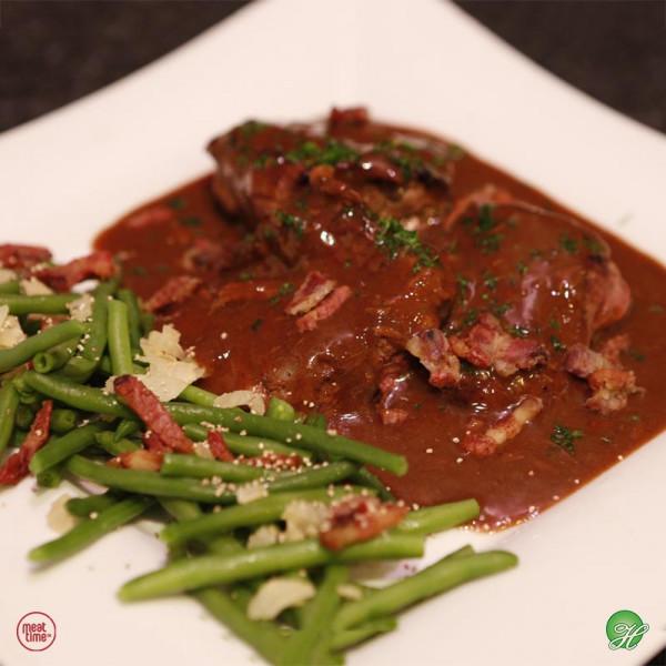Varkenswangen met bruine Leffe  - Meattime