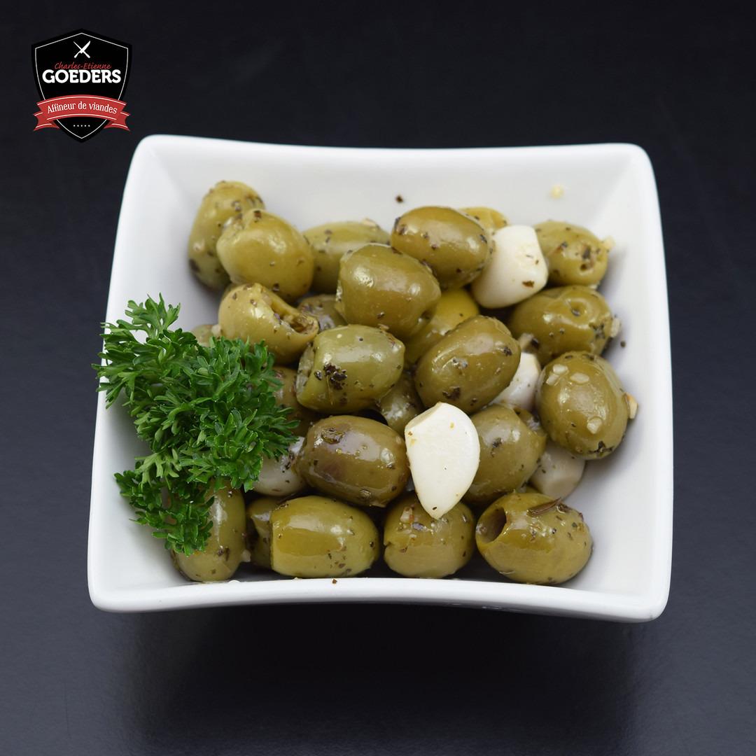 Olives vertes à l'ail - Meattime