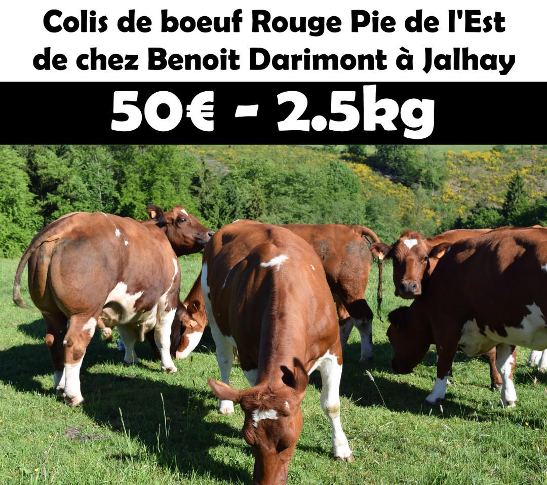 Pack de Rouge Pie de l'Est (2kg500) - Meattime