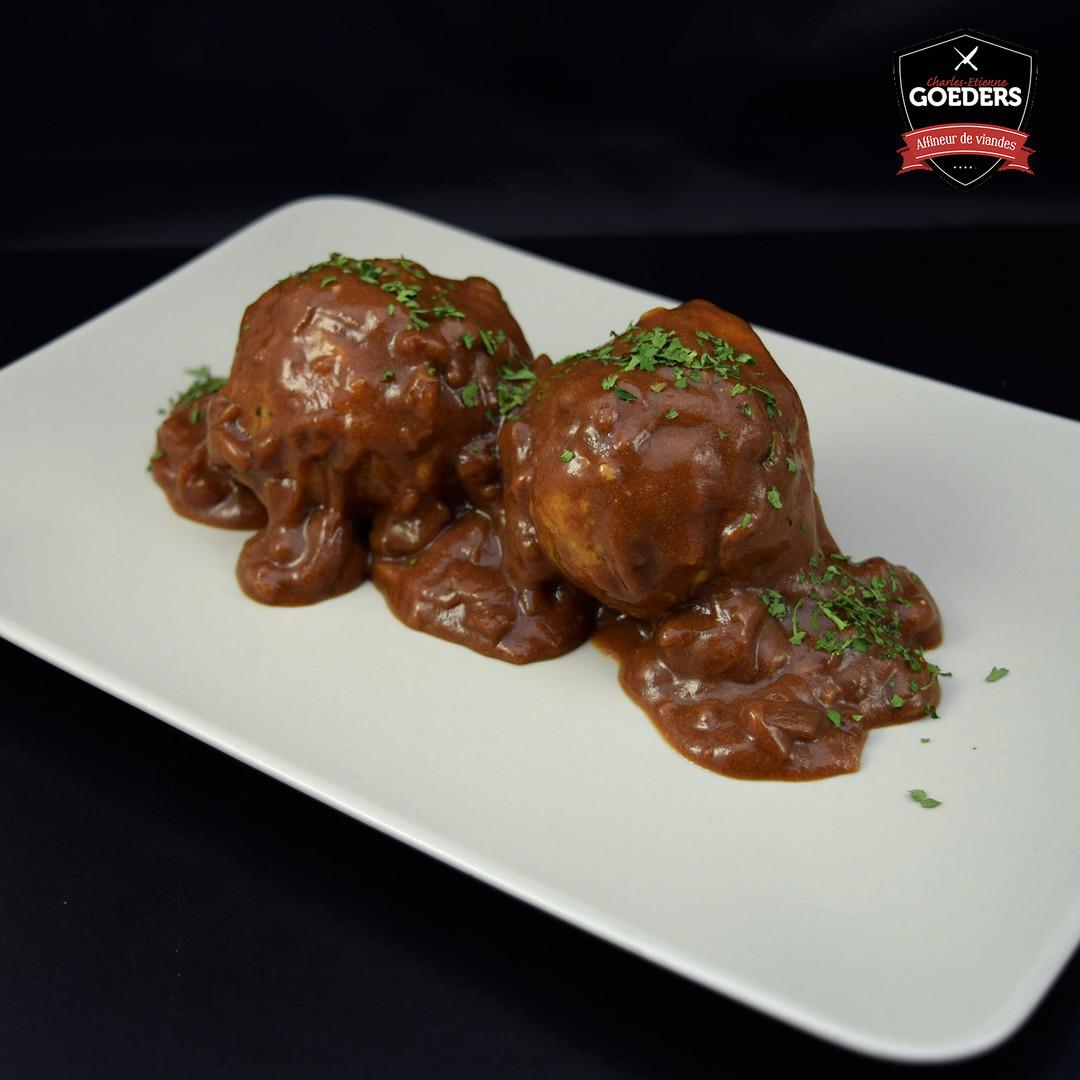 Boulettes sauce chasseur et purée (500gr) - Meattime