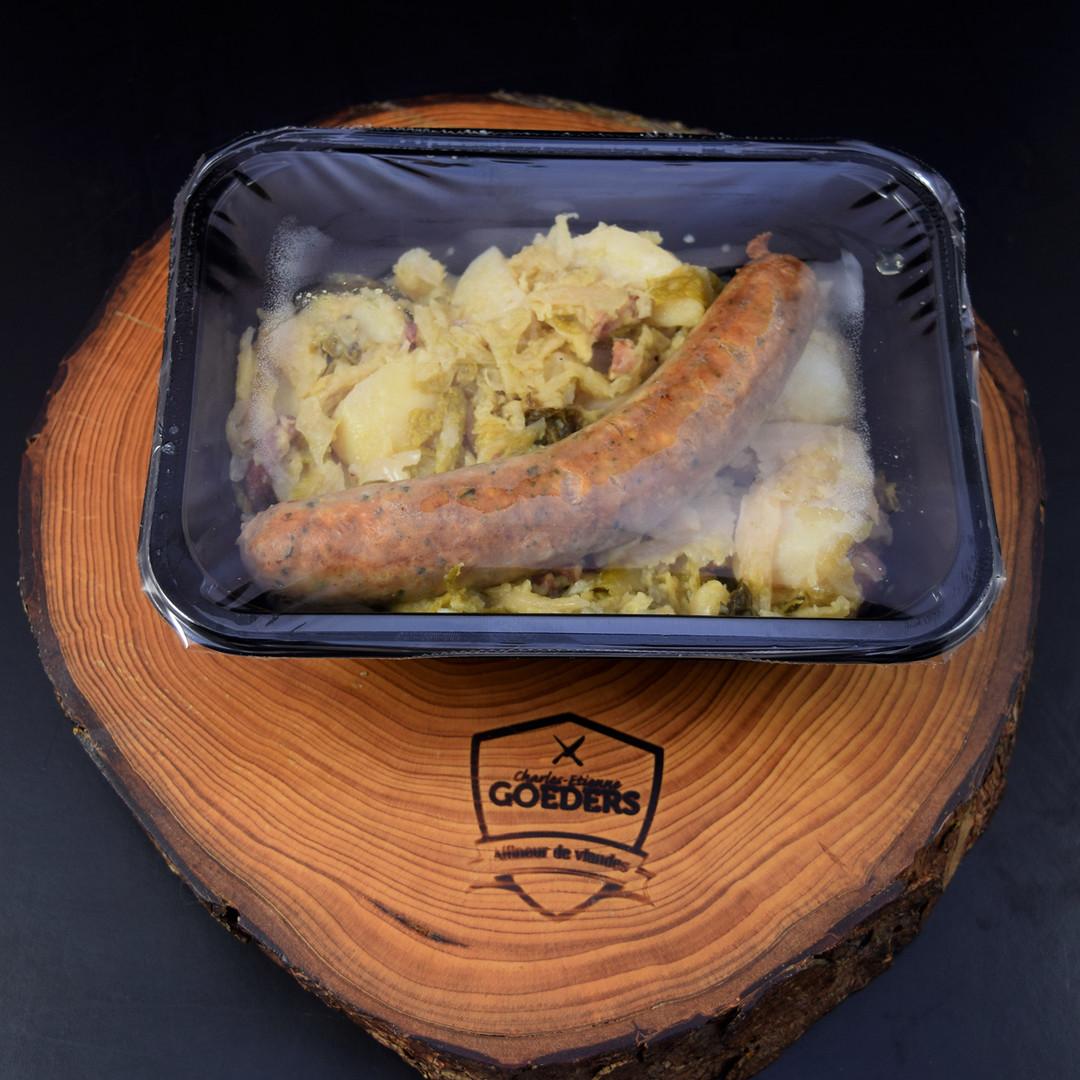 Potée au chou vert, saucisse et petits salés (500gr) - Meattime